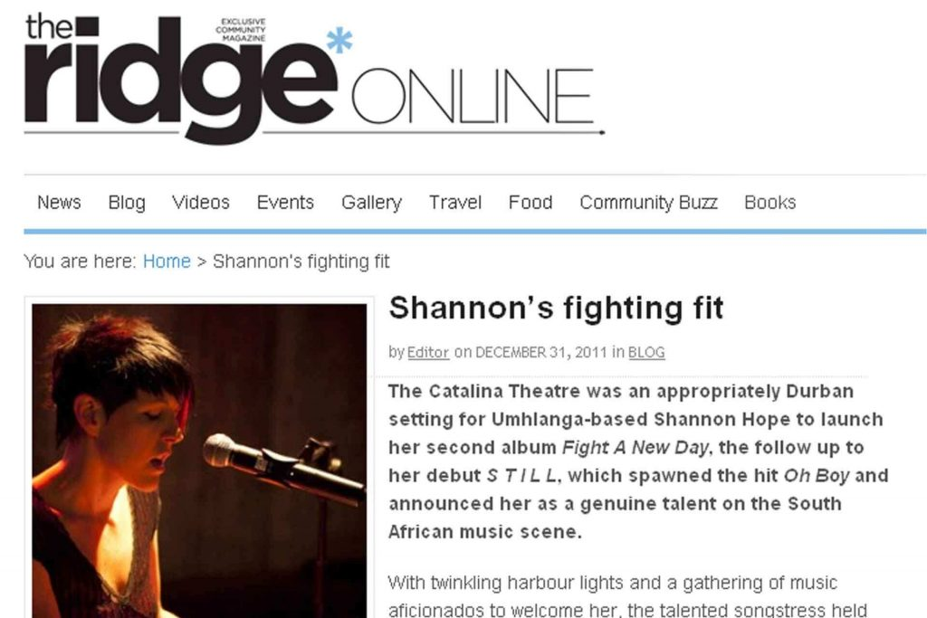 SHANNON'S FIGHTING FIT