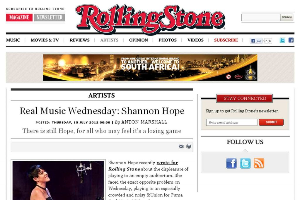 Rolling Stone Live Review